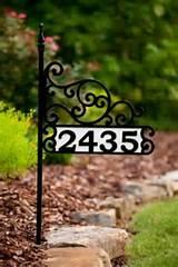 Yard Signs With House Numbers images