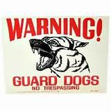 Yard Signs No Dogs images