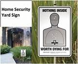 images of Yard Signs Home Security
