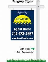 Real Estate Signs That Hang